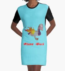 Parks and Recreation Flame Duck Graphic T-Shirt Dress