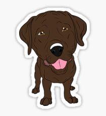 Happy Chocolate Labrador  Sticker