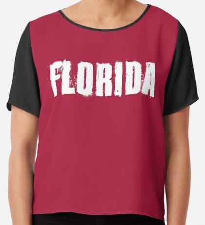 Florida Explosive Typography Chiffon Top