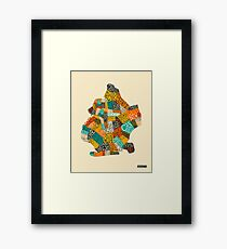 BROOKLYN NEIGHBORHOODS Framed Print