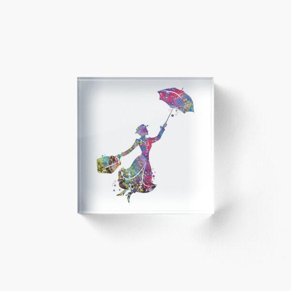 Mary Poppins Acrylic Block