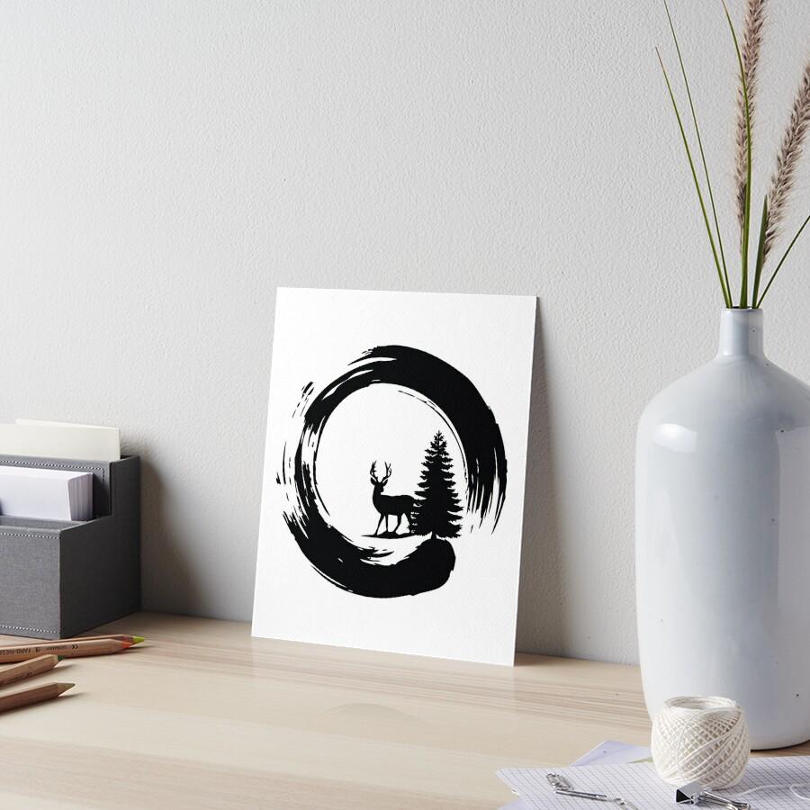 Christmas Tree Japanese Calligraphy Enso Circle Gifts\