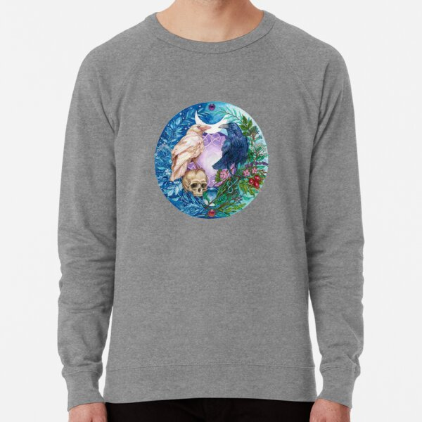 Botanical Celtic Ravens - Sacred Balance Lightweight Sweatshirt