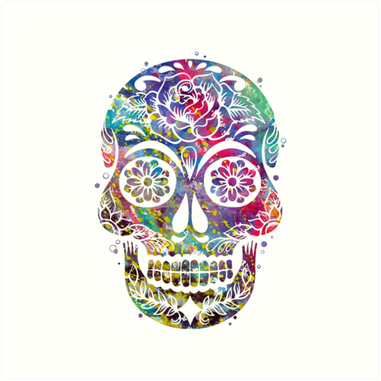 sugar skull art prints by bittermoon redbubble