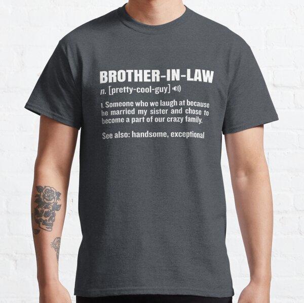¡aniversario de bodas o un divertido regalo de cumpleaños para tu orgulloso nuevo hermano! ¡Un atuendo sarcástico y divertido que recibirá cumplidos y buenas risas! ¡Asegúrese de obtener esta hermosa camiseta para el nuevo miembro de la familia! Camiseta clásica