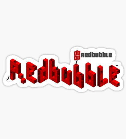 redbubble cubit condos lapse into logo  Sticker