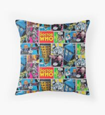 Doctor Who Comic Throw Pillow