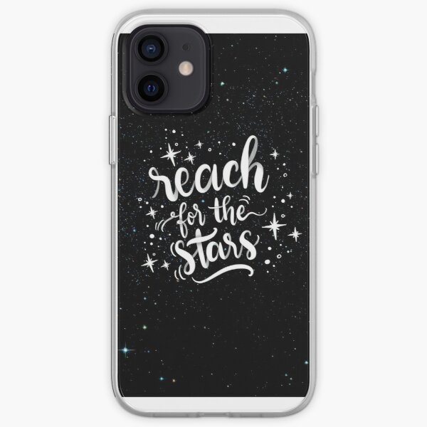 Reach for the stars! Poster calligraphic design iPhone Soft Case
