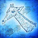 Blue Giraffe Mother Watching The Spirit Cows Ascend by SpiritCow