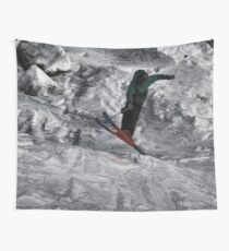 Mountain Air  - Skier Wall Tapestry