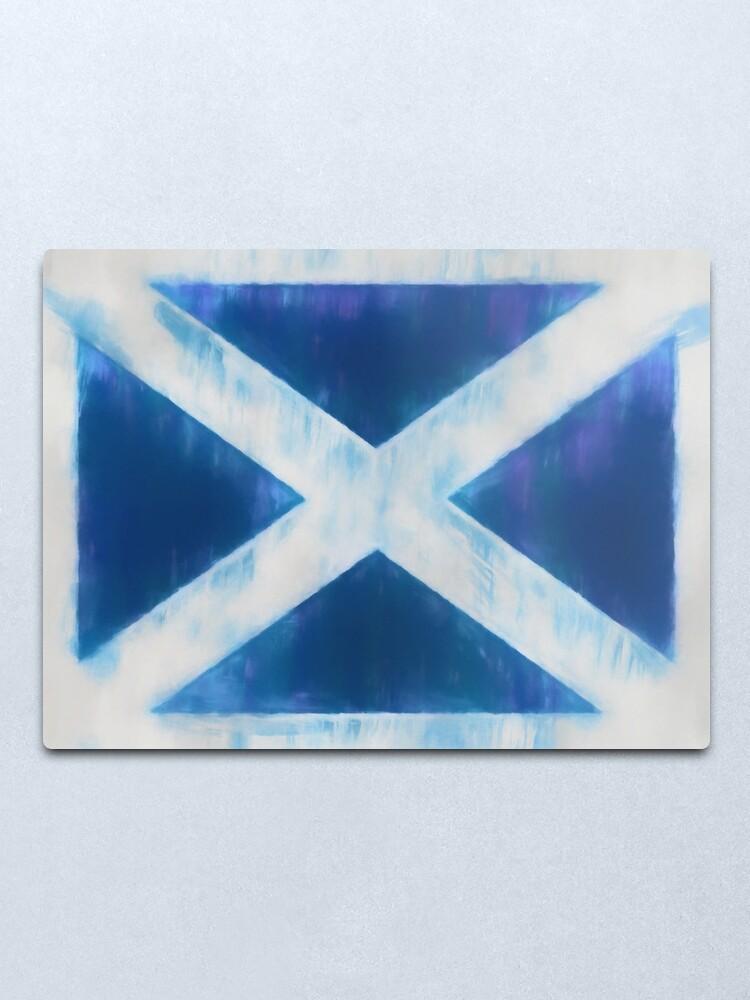 Alternate view of Scotland Flag Reworked No. 66, Series 1 Metal Print