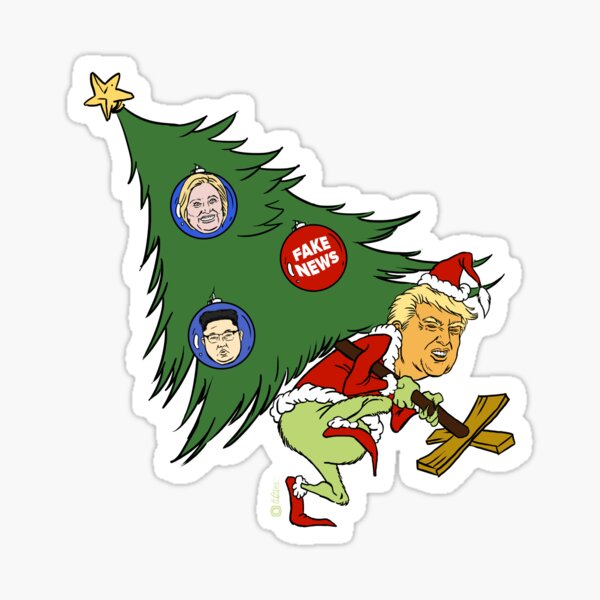 How the Trump Stole Christmas Sticker