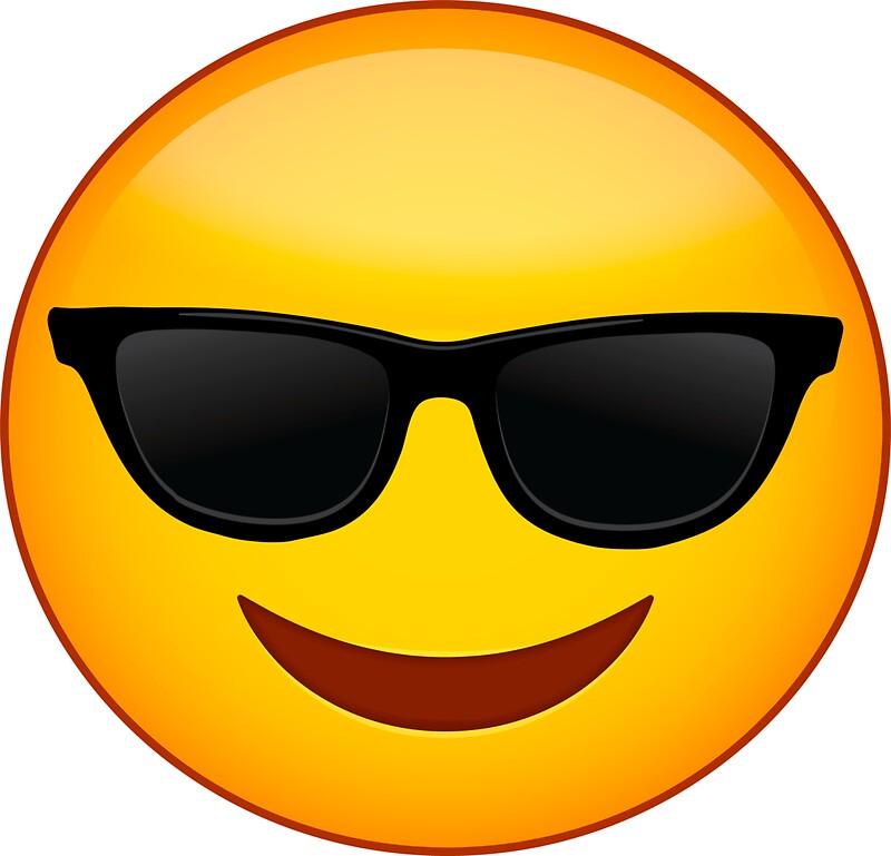 """""""'Emoji Couple Costume' Funny Emoji Sunglasses """" Stickers ..."""