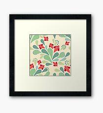Retro flowers , retro Framed Print