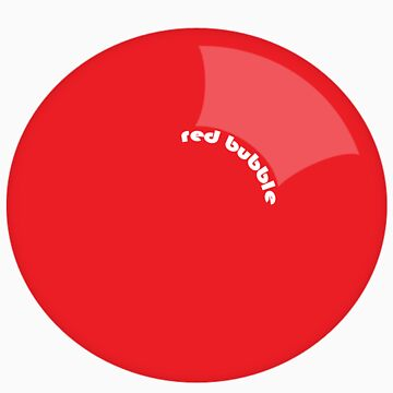 Red Bubble Bubble by Wazuki