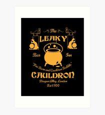 Leaky Cauldron Bar and Inn Art Print
