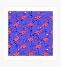 Fifties Flamingo Art Print