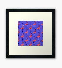 Fifties Flamingo Framed Print