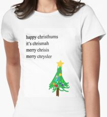 MERRY CHRYSLER Women's Fitted T-Shirt
