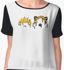Calvin & Hobbes Grime Women's Chiffon Top