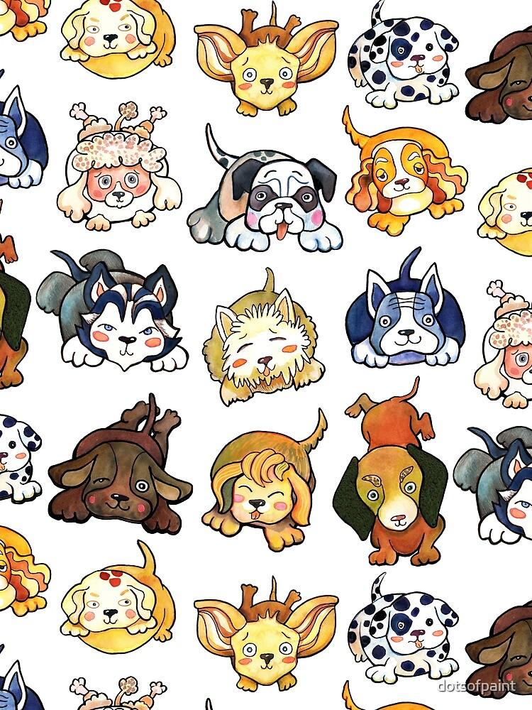 Perros de Kawaii por dotsofpaint de dotsofpaint