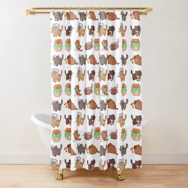 Form Nyaatron! Shower Curtain
