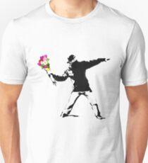 Banksy Flower Bomber Recreation Unisex T-Shirt
