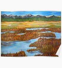 Marshlands landscape painting impressionism art Poster