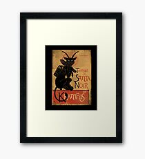 Merry Krampus! Framed Print