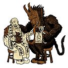 Krampus and Nick - Drinking Buddies by Wolffdj