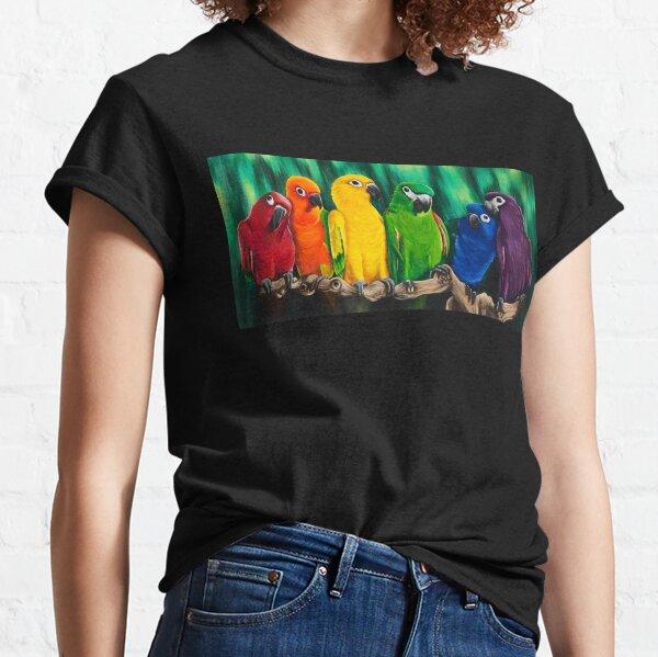 Polychrome Parrots  Classic T-Shirt