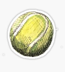 Tennisball-Muster - Rosa Sticker