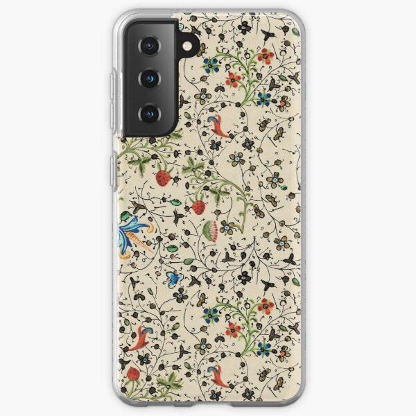 Medieval floral pattern – State Library Victoria Samsung Galaxy Soft Case