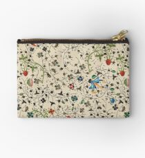 Medieval floral pattern – State Library Victoria Zipper Pouch