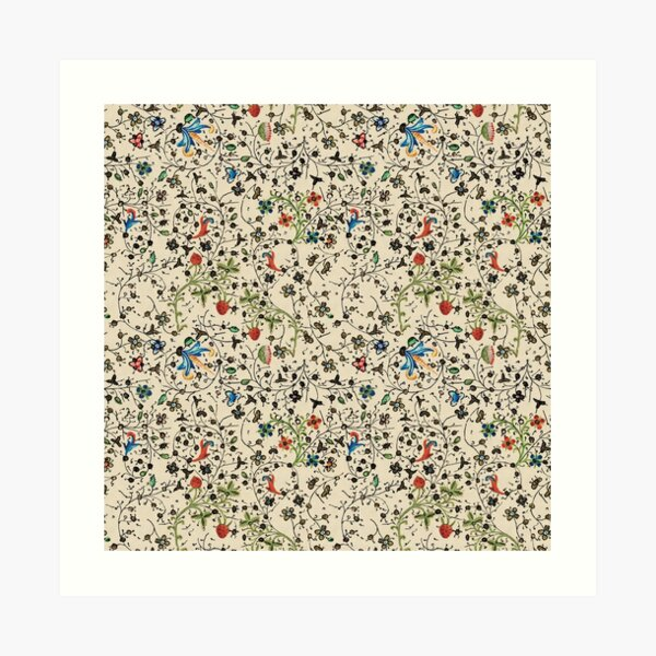 Medieval floral pattern – State Library Victoria Art Print