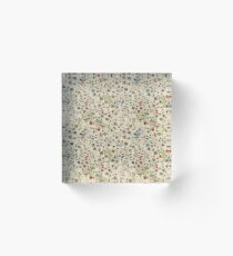 Medieval floral pattern – State Library Victoria Acrylic Block