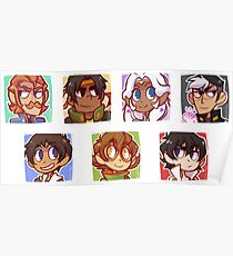Voltron Icons Poster