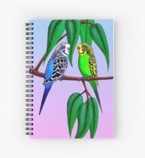 Budgies in the Gumtree Spiral Notebook