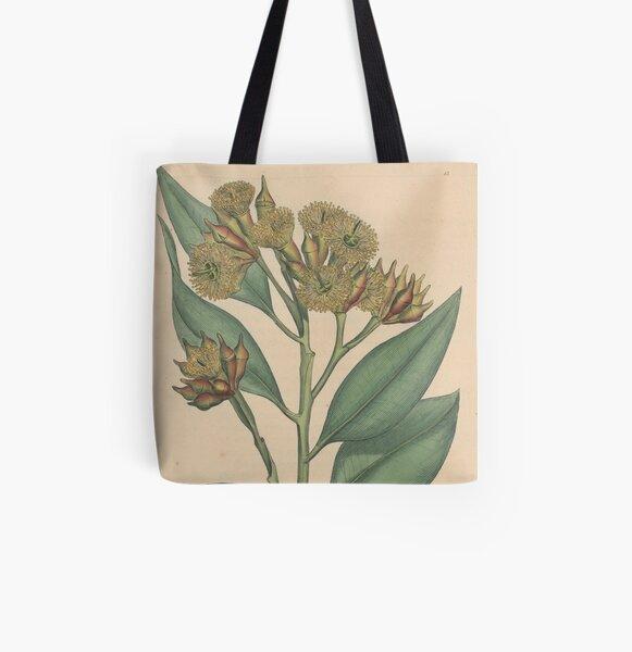 Botanical illustration: Eucalyptus robusta  – State Library Victoria All Over Print Tote Bag