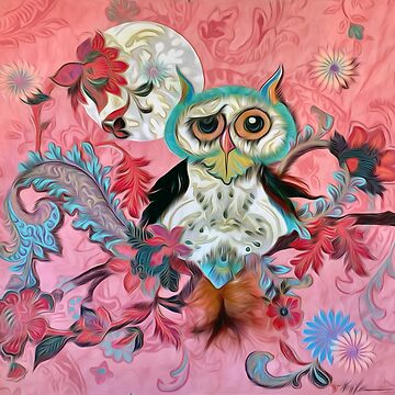 Owl in Pink by almalee