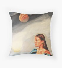 I Made the Break (Self Portrait) Throw Pillow