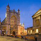 Bath Abbey at Twilight by Victoria Ashman