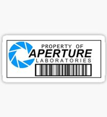 Property of Aperture Labs Sticker