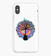 """Psychedelic Sonic Cyclone""   ( surreal guitar tree art) iPhone Case/Skin"