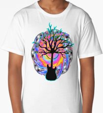"""Psychedelic Sonic Cyclone""   ( surreal guitar tree art) Long T-Shirt"