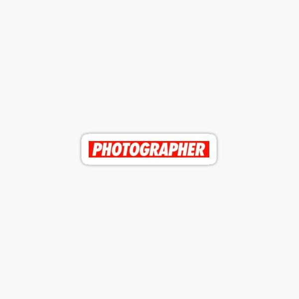 Photographer - Shirt Sticker