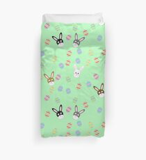 Easter Bunnies with Easter Eggs Duvet Cover
