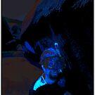 Snorkeler In Blue by Mark Ross