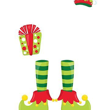 Elf T-Shirt Little Elf Christmas Tshirts by lepus74