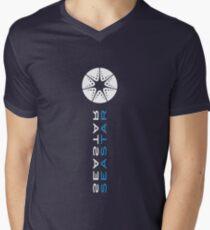 SEASTAR blue Men's V-Neck T-Shirt